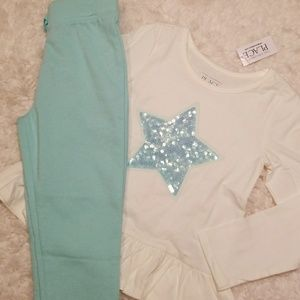 The Children's Place Starry Blue Outfit NWT